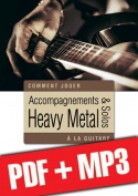 Accompagnements & solos heavy metal à la guitare (pdf + mp3)