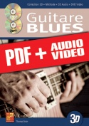 La guitare blues en 3D (pdf + mp3 + vidéos)