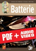 Initiation à la batterie en 3D (pdf + mp3 + vidéos)