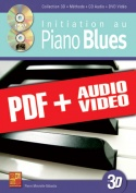 Initiation au piano blues en 3D (pdf + mp3 + vidéos)