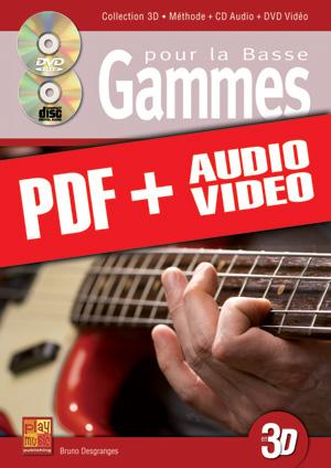 Gammes pour la basse en 3D (pdf + mp3 + vidéos)