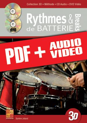 Rythmes & breaks de batterie en 3D (pdf + mp3 + vidéos)