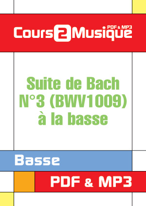 Suite de Bach N3 (BWV1009)  la basse