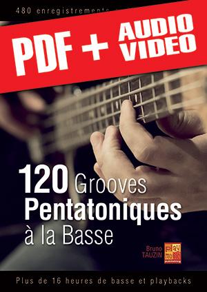 120 grooves pentatoniques à la basse (pdf + mp3 + vidéos)