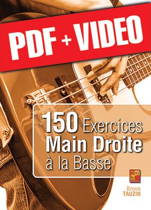 150 exercices main droite à la basse (pdf + vidéos)