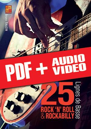 25 lignes de basse rock 'n' roll & rockabilly (pdf + mp3 + vidéos)
