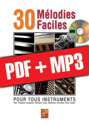 30 mélodies faciles - Accordéon (pdf + mp3)