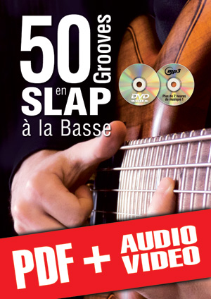 50 grooves en slap à la basse (pdf + mp3 + vidéos)
