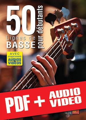50 lignes de basse pour débutants (pdf + mp3 + vidéos)