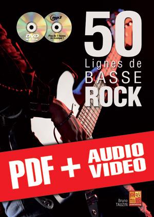 50 lignes de basse rock (pdf + mp3 + vidéos)