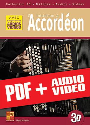 Initiation à l'accordéon en 3D (pdf + mp3 + vidéos)