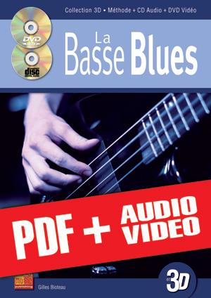 La basse blues en 3D (pdf + mp3 + vidéos)