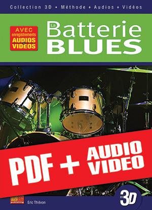 La batterie blues en 3D (pdf + mp3 + vidéos)