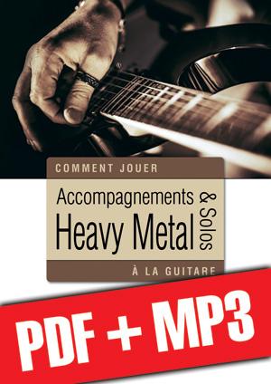 Accompagnements & solos heavy metal à la guitare (pdf + mp3)
