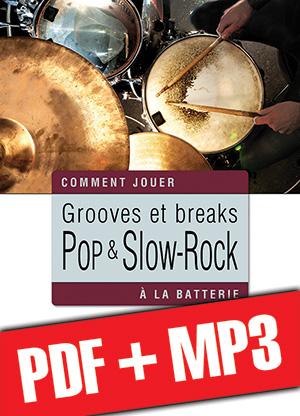 Grooves et breaks pop & slow-rock à la batterie (pdf + mp3)