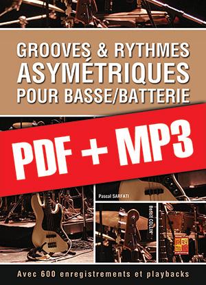 Grooves & rythmes asymétriques pour basse/batterie (pdf + mp3)