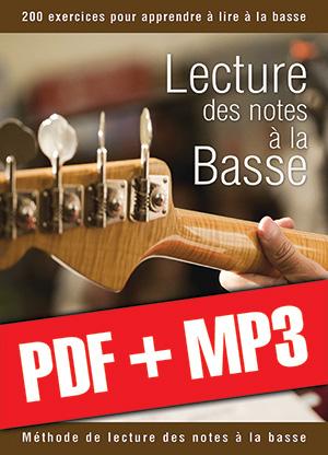 Lecture des notes à la basse (pdf + mp3)
