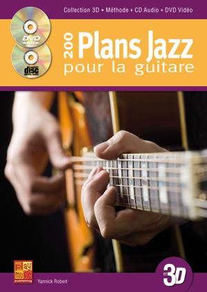 200 plans jazz pour la guitare en 3D