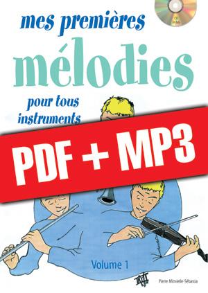 Mes premières mélodies - Tous instruments (pdf + mp3)