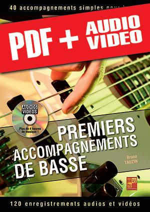 Premiers accompagnements de basse (pdf + mp3 + vidéos)