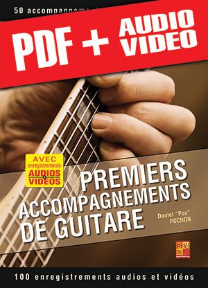 Premiers accompagnements de guitare (pdf + mp3 + vidéos)