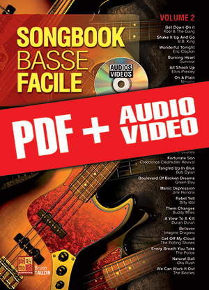 Songbook Basse Facile - Volume 2 (pdf + mp3 + vidéos)