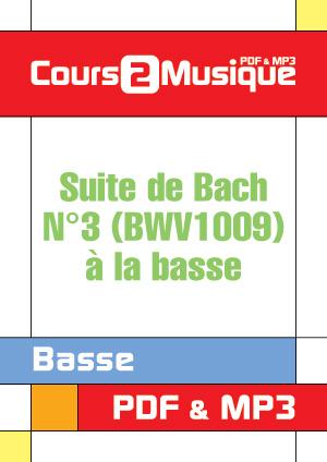 Suite de Bach N°3 (BWV1009) à la basse