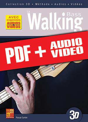 La walking bass en 3D (pdf + mp3 + vidéos)