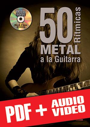 50 rítmicas metal a la guitarra (pdf + mp3 + vídeos)