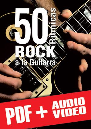 50 rítmicas rock a la guitarra (pdf + mp3 + vídeos)