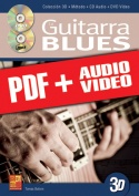 La guitarra blues en 3D (pdf + mp3 + vídeos)
