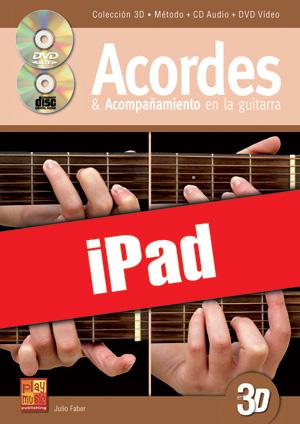 Acordes & acompañamiento en la guitarra en 3D (iPad)