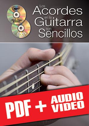 Los acordes en la guitarra son sencillos... con el sistema CAGED (pdf + mp3 + vídeos)