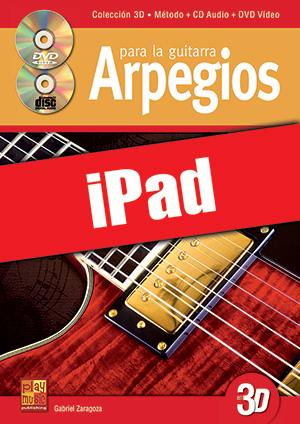 Arpegios para la guitarra en 3D (iPad)