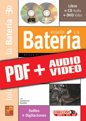 Iniciación a la batería en 3D (pdf + mp3 + vídeos)