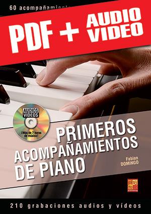 Primeros acompañamientos de piano (pdf + mp3 + vídeos)