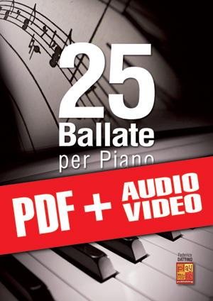 25 ballate per piano (pdf + mp3 + video)