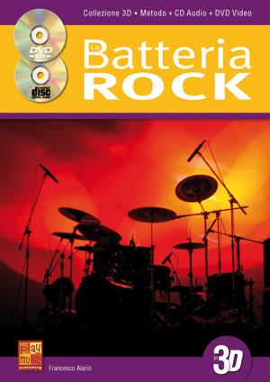 La batteria rock in 3D