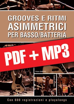Grooves e ritmi asimmetrici per basso/batteria (pdf + mp3)