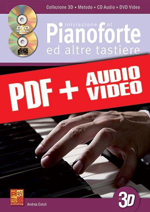 Iniziazione al pianoforte ed altre tastiere in 3D (pdf + mp3 + video)