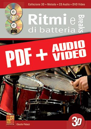 Ritmi e breaks di batteria in 3D (pdf + mp3 + video)