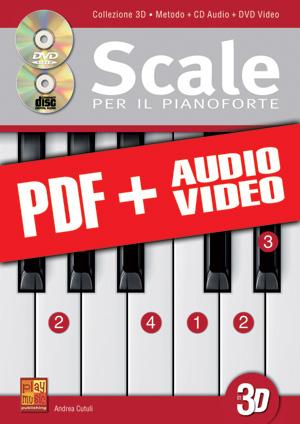Scale per il pianoforte in 3D (pdf + mp3 + video)