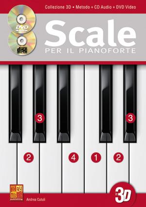 Scale per il pianoforte in 3D