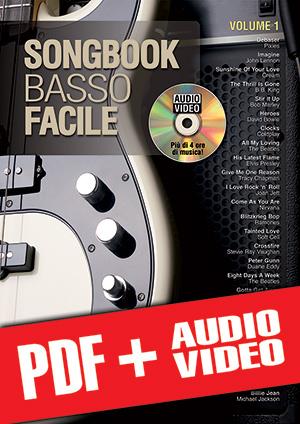 Songbook Basso Facile - Volume 1 (pdf + mp3 + video)