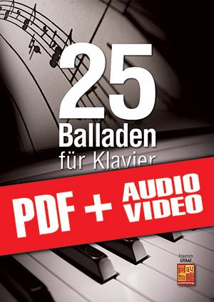 25 Balladen für Klavier (pdf + mp3 + videos)