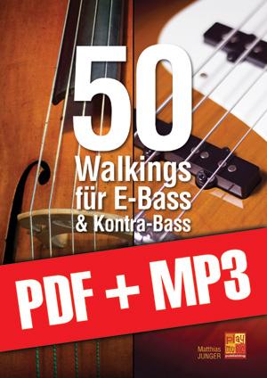 50 Walkings für E-Bass & Kontra-Bass (pdf + mp3)