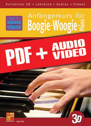 Anfängerkurs für Boogie-Woogie-Piano in 3D (pdf + mp3 + videos)