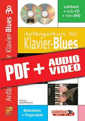Anfängerkurs für Klavier-Blues in 3D (pdf + mp3 + videos)