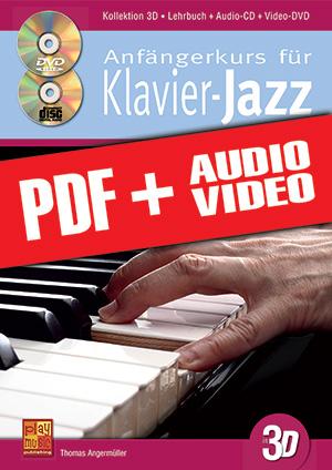 Anfängerkurs für Klavier-Jazz in 3D (pdf + mp3 + videos)