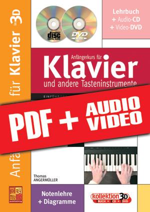 Anfängerkurs für Klavier in 3D (pdf + mp3 + videos)